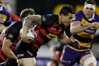 Sonny Bill Williams of Canterbury is tackled. Photo / Getty Images