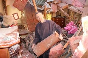 William Cottrell inside his bedroom at Gunyah Country Lodge in Glenroy. Photo / Geoff Sloan