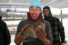 Nathan Morehu hooked his John Dory in the Rakino Channel on a live yellowtail. Photo / Geoff Thomas