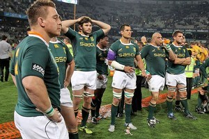 The Springboks finished the Tri-Nations with just one win from six matches. Photo / Getty Images