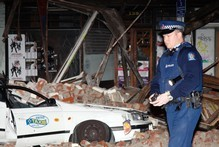 Destruction in Christchurch central city after the earthquake. Photo / William Booth