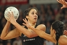 Daneka Wipiiti of the Silver Ferns takes a pass against Australia. Photo / Getty Images
