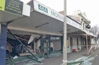 Damage to the commercial heart of Sydenham, Colombo Street South where buildings have yet to be assessed after the earthquake. Photo / NZPA