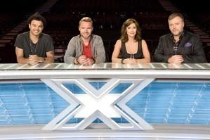 The Australian X Factor judges - Guy Sebastian, Ronan Keating, Natalie Imbruglia and Kyle Sandilands. Photo / Supplied