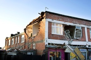 Damage after the Christchurch earthquake. Photo / Getty Images