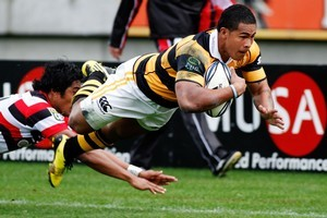 David Smith's try helped take Taranaki to third on points difference. Photo / Getty Images