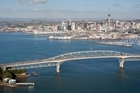 Auckland Harbour Bridge, from Birkenhead over the waitemata harbour. Photo / NZ Herald