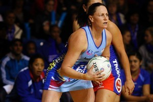 Megan Dehn has swapped her Southern Steel bib for a Northern Mystics one. Photo / Sarah Ivey