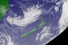 A satellite image dated September 15 shows a storm gathering in the Tasman Sea due to hit New Zealand Thursday September 16. Photo / Japan Meteorological Agency