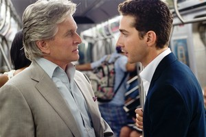 Michael Douglas and Shia LaBeouf in Wall Street: Money Never Sleeps. Photo / Supplied
