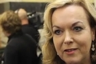 Police Minister Judith Collins attempts to sidestep questions about David Garrett's past and the three strikes law.