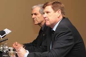 New Zealand Olympic Committee President Mike Stanley and Secretary General Barry Maister. Photo / Getty Images