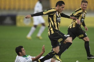 Leo Bertos in control during Friday's 2-1 victory over North Queensland Fury. Photo / Getty Images