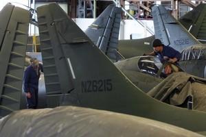 The mothballed Skyhawkes. File photo / Simon Baker