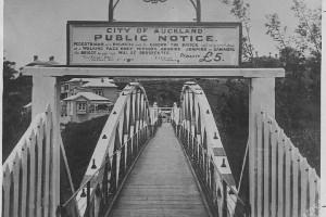 Grafton Bridge was opened 100 years ago. Photo / NZ Herald Archives