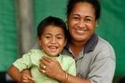 Lau'iliu Paneta with his mother Solema. Photo / Brett Phibbs