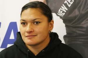 A win and help from a track and field legend have boosted Valerie Adams' confidence. Photo / Greg Bowker