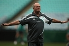Head coach Graham Henry during a New Zealand All Blacks training session. Photo / Getty Images
