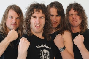 BOYS WILL BE BOYS: Airbourne grew up on beer and barbecues. Photo / Supplied