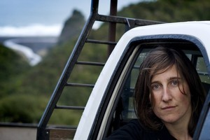 Alex Monteith says whether taking Land Rovers on the road or working with the Air Force, she has tried to distil the geographical experience for the gallery environment. Photo / David White