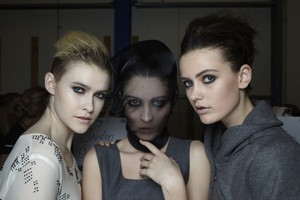 Models backstage at Alexandra Owen. Photo / Getty Images