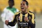 Leo Bertos celebrates his goal for Wellington Phoenix against North Queensland Fury last night. Photo / Getty Images