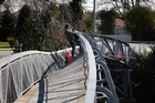 Twisted bridge across the Avon River in Christchurch. Photo / Sarah Ivey