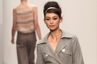 A model wears a creation by Juliette Hogan on day one of New Zealand Fashion Week 2010. Photo / Getty Images