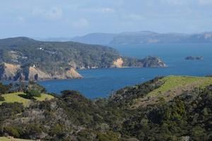 Looking south across Kawau Bay at Tawharanui Regional Park. Photo / Liz Light.
