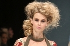 A model wears a creation by Trelise Cooper on day two of New Zealand Fashion Week 2010. Photo / Getty Images