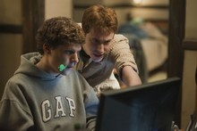 Jesse Eisenberg (L) and Joseph Mazzello in Columbia Pictures' 'The Social Network', due out in November. Photo / Supplied