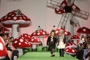 Young models wear creations from the Trelise Cooper Kids range on the final day of New Zealand Fashion Week 2010. Photo / Getty Images