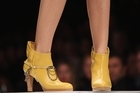 A model wears shoes by Kathryn Wilson on day one of New Zealand Fashion Week. Photo / Getty Images