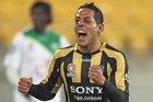 Leo Bertos of the Phoenix celebrates a goal. Photo / Getty Images