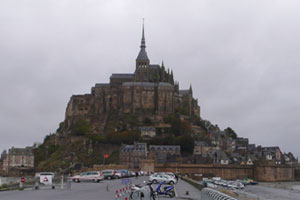 Imposing views of the castle at Mont Saint-Michel. Photo / Peter Calder