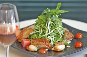 Roast duck and scallop dish. Photo / Steven McNicholl