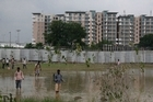 The Games village where over 7000 athletes will be staying during the Delhi Games. Photo / AP