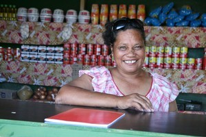 Nella Tufugafale's business was destroyed in the Samoan tsunami but she has rebuilt it with the help of a cash grant. Photo / Red Cross