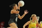 Liana Barrett-Chase (above) and the Silver Ferns are expected to meet Australia in the final. Photo / Getty Images