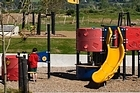 The brand-new play area at Barry Curtis Wetland 