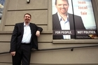Colin Craig is reaching out to voters disillusioned with local politics. Photo / Dean Purcell