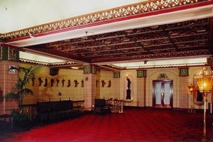 The dress circle foyer of the St James in 1999. Photo / Salmon Reed Collection
