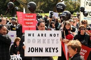 Teachers' attitude towards National ministers has been poor. Photo / Janna Dixon