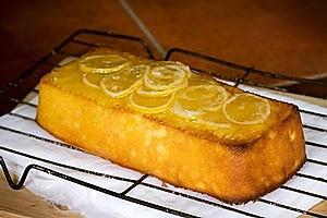 Yoghurt lemon syrup loaf. Photo / Babiche Martens