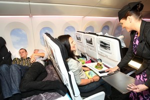 Meals on demand and a bit of a lie down - long-haul flights lookset to become far more pleasurable. Photo / Natalie Slade