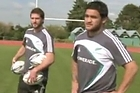 Cory Jane and Piri Weepu in the Rugby Channel ad.