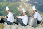 Each chef was tasked with preparing a menu using at least one ingredient from the South Tyrol region. Photo / Supplied