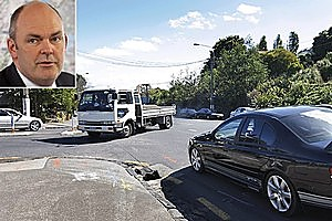 Transport Minister Steven Joyce will change NZ's give-way rules in 2012. Photos / Sarah Ivey, Alan Gibson