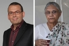 Paul Henry (left) and Delhi's Chief Minister, Sheila Dikshit. Photos / Supplied, AP
