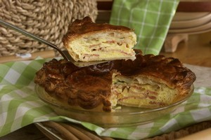 Bacon and egg pie. Photo / Nicola Topping